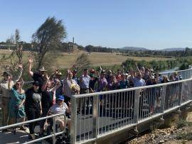 Completion of Stage Two of the Wollondilly Walkway in Goulburn. Photo: Supplied