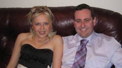 INSPIRATIONAL: Sheridan Wood lost her life to Cystic Fibrosis on May 4, aged forty. Her husband Laurence, pictured with her in 2007, described her as his soul mate. Photo supplied.