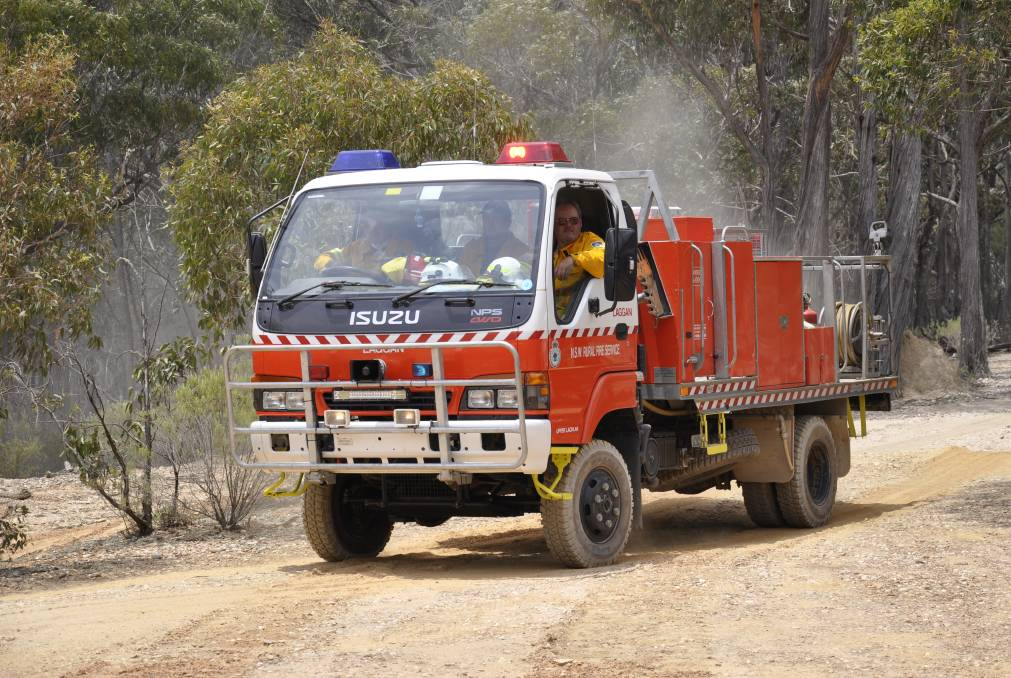 ON THE SPOT: RFS crews managed to quickly contain a fire on Guineacor Road South near Taralga on Tuesday afternoon. File photo.