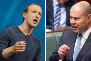 Facebook founder Mark Zuckerberg and Australian Treasurer Josh Frydenberg are set to talk over the Facebook news stand-off. Pictures: Shutterstock, Sitthixay Ditthavong