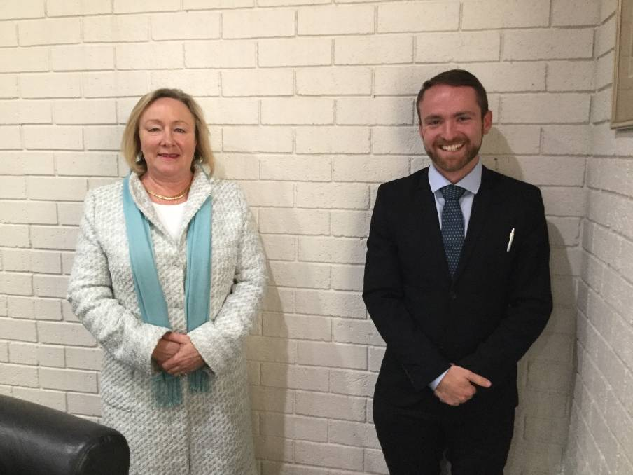 Mayor Rowena Abbey and Deputy Mayor Nathan Furry. File pic