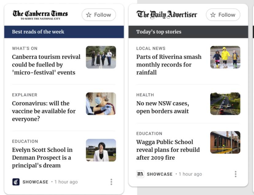 Google News Showcase allows news publishers to curate their journalism for users rather than relying solely on Google's algorithm to surface their articles.